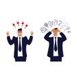 angry businessman a man in a suit and tie vector image