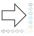 arrow right icon vector image vector image