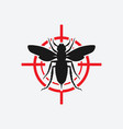 asian giant hornet icon red target vector image vector image