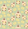 bear with sweetness pattern vector image vector image