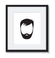 beard man in a frame vector image vector image