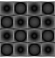 black and white halftone circle pattens in checker vector image
