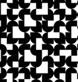 Black and white solid geometric seamless pattern vector image
