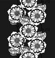 Black Floral Vine Background vector image