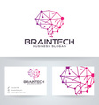 Brain Tech vector image vector image