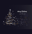 brightness christmas tree background vector image vector image