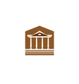 Building with columns logo Lawyer real estate sign vector image vector image