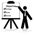 Business objectives vector image vector image