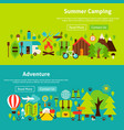 camping website banners vector image vector image