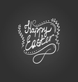 Card with Happy Easter lettering vector image vector image