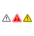 caution warning signs set exclamation marks vector image