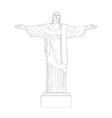 christ redeemer statue vector image