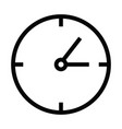 clock time icon with outline style vector image