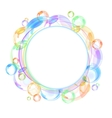 colorful bubble background vector image