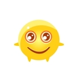 Content Round Character Emoji vector image vector image