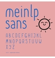 Cute hand-drawn font Part 2 - uppercase vector image vector image