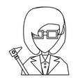doctor profile cartoon vector image