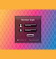 easy customizable member login website element on vector image