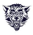 emblem logo tattoo head a wolf vector image