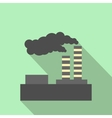 Factory pollution flat icon vector image