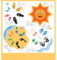 family holidays by sea vector image vector image