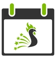 Festive Rooster Calendar Day Flat Icon vector image vector image