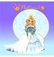 fictional character doll queen vector image vector image