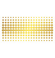 financial reward seal golden halftone effect vector image