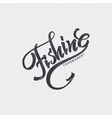 Fishing badges sign handmade differences made vector image vector image