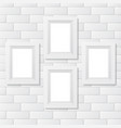 four picture frames brick vector image vector image