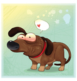 Funny dog with balloon vector image vector image