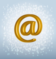 golden email vector image vector image