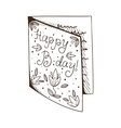Greeting card for birthday vector image vector image