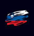 grunge textured slovene flag vector image vector image