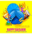 Happy Baisakhi background vector image vector image