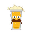 hipster beer character vector image