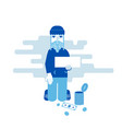 homeless person begging for money vector image