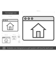 Homepage line icon vector image vector image