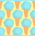 ice cream seamless pattern in flat style vector image
