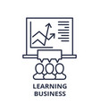 learning business line icon concept learning vector image vector image