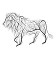 lion bush stylization vector image vector image