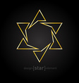luxury golden star on black background vector image vector image