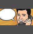 man talking on phone in vector image