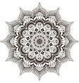 mandala mehendi vector image vector image