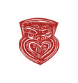 Maori Mask Etching vector image vector image