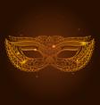 masquerade carnival mask vector image