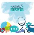 mental health day problem psychology medical vector image vector image