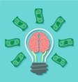 Money and Brain Idea Concept vector image vector image