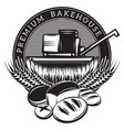 monochrome template for the emblem with baking vector image vector image