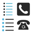 Phone List Flat Icons vector image